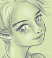 Sketch: female elf