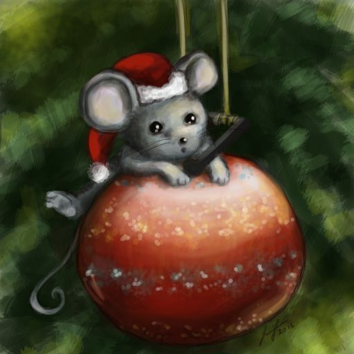 Mouse on a Bauble