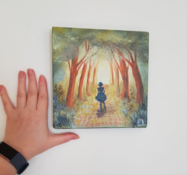 Hand measurement for painting